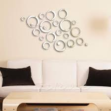 1pc sticker fashion circles mirror style removable decal vinyl art wall sticker home decor wall stickers