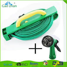 15m flat garden hose pipe hose reel with 4 ways spray nozzle outdoor watering hose 15m flat hose reel 15m flat hose reel hose reel withspray