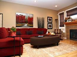 red living room paint red and brown living room decorating ideas living room paint ideas with brown furniture inside red and cream walls living room
