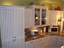 white beadboard cabinet doors. White Beadboard Kitchen Cabinet Doors Combined With Marble . O
