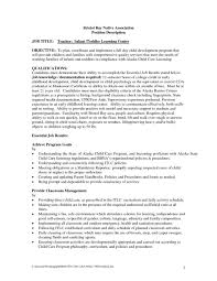 Childcare Resume Cover Letter Child Care Job Description Template Resume Cover Letter Reporter 71