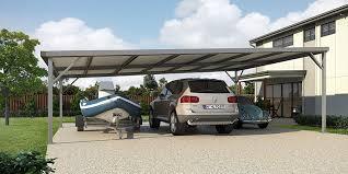 triple bay steel skillion roof carport