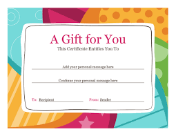Microsoft Word Gift Certificate Template Birthday Gift Certificate Template Template For Word 2013 Or