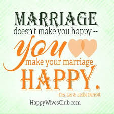 Happy Marriage Quotes Best Love Quotes Marriage Doesn't Make You Happyyou Make Your
