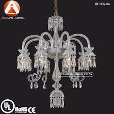 8 light french style crystal chandelier lamp