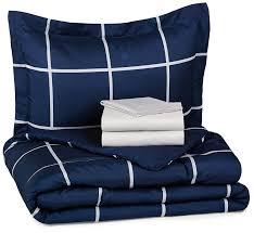 xlong twin sheet sets amazon com amazonbasics 5 piece bed in a bag twin twin extra long