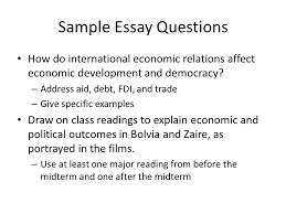 social effects of democracy ppt sample essay questions