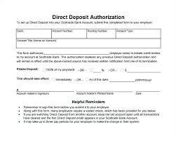 Employee Direct Deposit Authorization Agreement Direct Deposit Form Template Copyofthebeauty Info