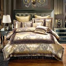 gold duvet cover set luxury jacquard cotton gold duvet cover set for king queen size bedding