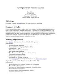 Objective For Nursing Assistant Resume It Resume Cover Letter Sample