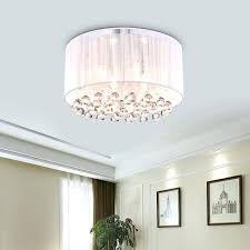 drum light fixture belle 4 light white drum chrome flush mount crystal chandelier ceiling fixture drum light fixture home depot