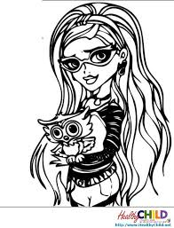 Small Picture Monster High Coloring Pages HealthyChildnet