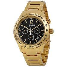 versus by versace cosmopolitan chronograph black dial gold ion versus by versace cosmopolitan chronograph black dial gold ion plated men s watch sgc080013