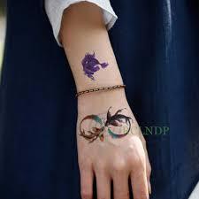 водонепроницаемый временные татуировки стикеры золотая рыбка поддельные Tatto