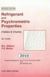 Buy Refrigerant Psychrometric Properties Tables Charts