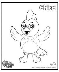 chica the chica show coloring pages for kids sprout