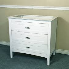 Bellaterra Home 35 Inch Single Sink Vanity Base Only, White Finish