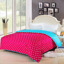 3 pieces 100 egyptian cotton duvet cover set with active printing dot red