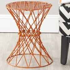 iron wire accent stool