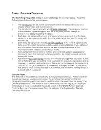 essay response format personal response essay format sample  summary and response essay format how to write a summary analysis essay response format