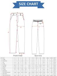 Pants Length Size Chart Professional Uniform Ashar