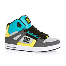 Dc Trainers - Dc Rebound Youth Trainers - Grey/yellow