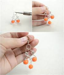 how to make a pair of chandelier earrings craft jewelry ideas pair of dainty wire