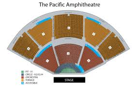 Verizon Center Interactive Seating Chart Concert Seating Chart Pacific Amphitheatre Summer Concert Series