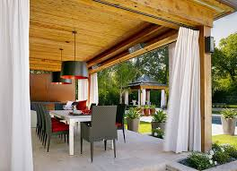 outdoor porch curtains. View In Gallery An Outdoor Lounge With White Curtains Porch P
