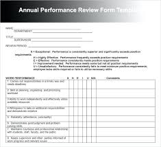 evaluation form templates sample employee performance review template templates free
