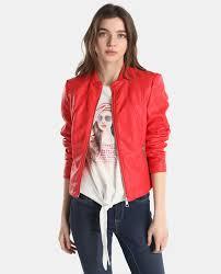 vero moda women s red biker jacket vero moda fashion el corte inglés