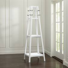 Crate And Barrel Wall Coat Rack Awesome Truro White Wood Standing Coat Rack Crate And Barrel Residence Free