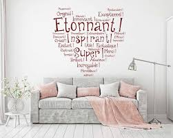 Vinyl Wall Quotes Mesmerizing French Wall Decal Quotes Etonnant Vinyl Wall Art Lettering