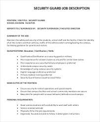 Sample Security Guard Job Description - 8+ Examples in PDF, Word