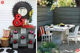 concrete block furniture. Amazing Design Cinder Block Furniture Backyard Bench Table And More 12 Diy Ideas Concrete