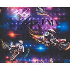Motocross Bedroom Decor As Creation Motocross Motorbike Pattern Childrens Wallpaper 306561