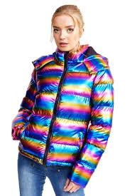 Brave Soul Ladies Joseph Padded Rainbow Metallic Jacket Quilted ... & Brave-Soul-Ladies-Joseph-Padded-Rainbow-Metallic-Jacket- Adamdwight.com