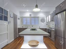 Australian Kitchen Small Modern Kitchen In Australian Home Stock Photo Picture And