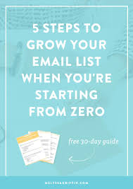 a step by step plan to grow your email list when you re starting grow your email list get more email subscribers email marketing