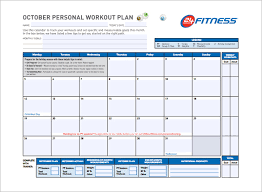 Training Programme Schedule Format Workout Schedule Template 8 Free Sample Example Format