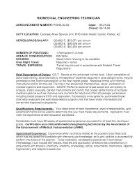 Biomedical Repair Sample Resume Medical Service Engineer Sample Resume 24 Computer Technician Cover 21