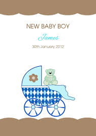 Card For Baby Boy Personalised New Baby Boy Card Design 4