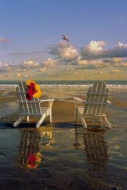 Adirondack chairs on beach sunset Shutterstock i Dont Care Where It Is Just Put Me There Pinterest Adirondack Chairs On The Beach Oceanbeaches Pinterest Beach