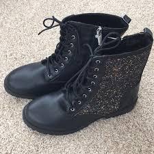 Sam Edelman Shoes | Sam Edelman Polly Quinn Black Combat Boots Glitter |  Poshmark
