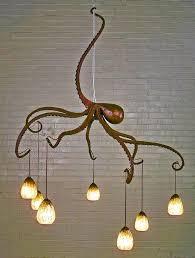 bronze octopus chandelier for