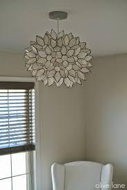 chandelier capiz lotus flower design home furniture