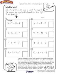 Marble Math - Free Math Worksheet for Kids - JumpStartMarble Math - Free Addition and Subtraction Worksheet for Kids