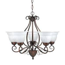 beatrice 5 light weathered bronze chandelier with alabaster glass shades