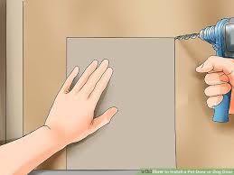 image titled install a pet door or dog door step 3