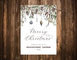 Business Christmas Card Template Corporate Holiday Card Template Business Holiday Card Etsy
